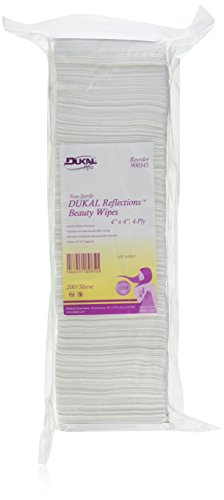 Non-Sterile - DUKAL Reflections Beauty Wipes - Latex Free (4-Ply) (4' x 4') - 200 count
