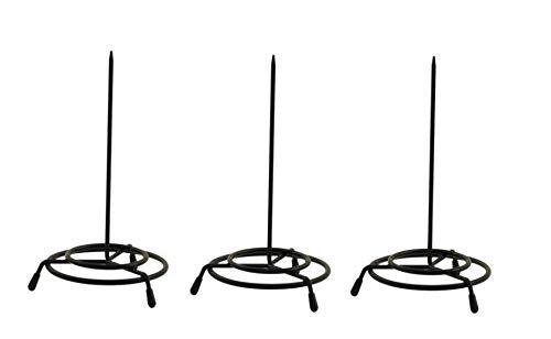 1InTheOffice Wire Receipt Spindle,Black Receipt Holder, 3 Pack (Black)