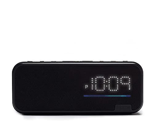 iHome Bluetooth Speaker Home Office Bedside Clock Speaker System Built in Alexa WiFi Enabled USB Charging Port Far Field Voice Activation Smart Home Control (IAV14) (Renewed)