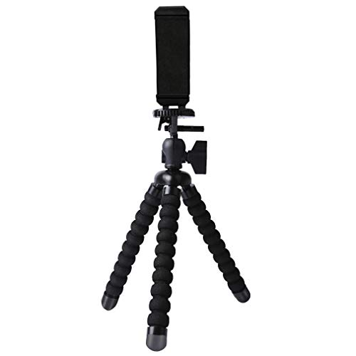 •Digtal Camera Tripod Mount Stand Camera Holder with Universal Clip Tabletop 360° Adjustable Mini Travel Tripod Portable Stand Holder for iPhone Android GoPro Selfie SLR Sports Camera