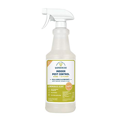 Wondercide Natural Products - Indoor Pest Control Spray for Home and Kitchen - Fly, Ant, Spider, Roach, Flea, Bug Killer and Insect Repellent - Eco-Friendly, Pet and Family Safe — 32 oz Lemongrass