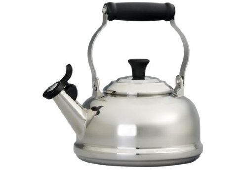 Le Creuset Stainless Steel Whistling Tea Kettle, 1.7 qt.