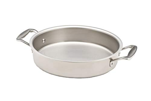 360 Stainless Steel Cake Pan, Handcrafted in the USA, 5 Ply, Surgical Grade Stainless Steel Bakeware, Professional Grade, Use as Baking Pan, Roasting Pan (9' Round)
