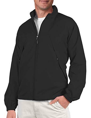 SCOTTeVEST Mens Pack Windbreaker Jacket - 19 Pockets - Fall Jackets for Men (BLK XL)
