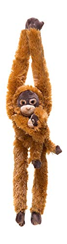 32-Inch Hanging Orangutan Monkey Stuffed Animal With Baby – Stuffed Monkey Plush Toy with Special Ultra Soft Plush Feel - Hands & Feet Connect - Bring This Popular Monkey Toy Home to Kids Ages 3+