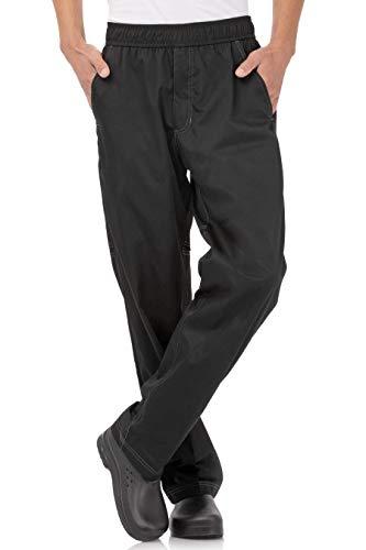 Chef Works Men's Cool Vent Baggy Chef Pants, Black, Medium