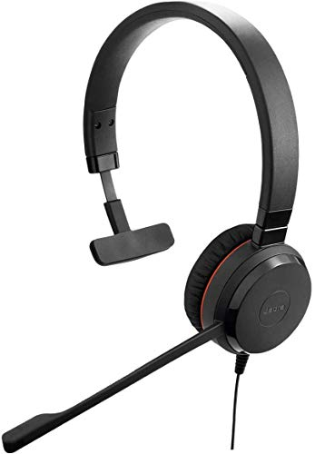 Jabra Evolve 30 II Wired Headset, Mono, MS-Optimized – Telephone Headset with Superior Sound for Calls and Music – 3.5mm Jack/USB Connection – Pro Headset with All-Day Comfort