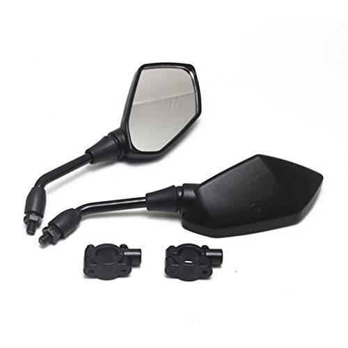 【2020 Upgraded】Motorcycle Convex Rear View Mirror, Mirrors For bike,motorcycle,atv,scooter, with 10mm Bolt, Handle Bar Mount Clamp Compatible with Cruiser, Suzuki, Honda, Victory and More