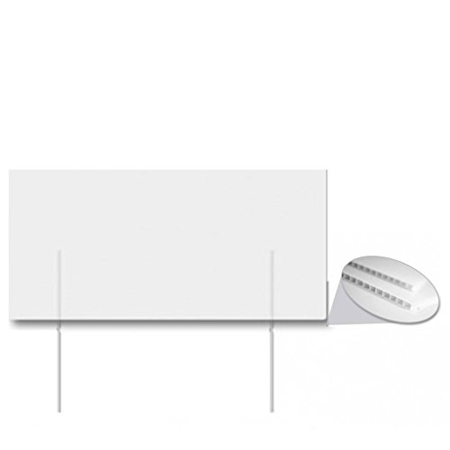 VictoryStore Corrugated Plastic 4 millimeters White Sign Blanks – 12 inches x 24 inches (50)