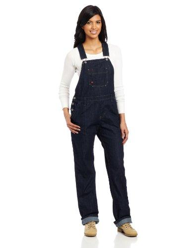 Dickies Women's Denim Bib Overall 100% Cotton Blue Denim with ScuffGard