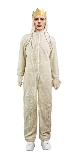 Where The Wild Things are Wolf King MAX Costume Hoodie Adult with Crown (XL) Beige