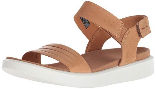 ECCO Women's Flowt Strap Sandal, Lion/Cashmere, 37 M EU (6-6.5 US)