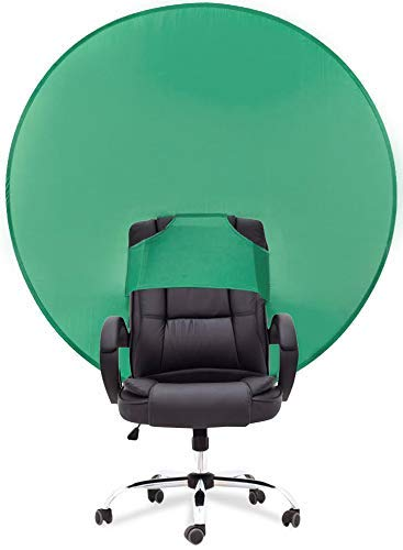 PRYMALL Pop Up Green Screen Background for Chair Portable Collapsible Backdrop Circular Attachment 50x50 in.