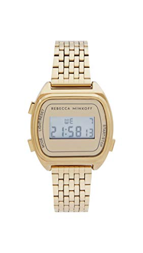 Rebecca Minkoff Women's Analog Quartz Watch with Stainless Steel Strap, Gold, 17 (Model: 2200377)