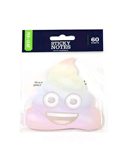 Sticky note RAINBOW Poop Emoji 60 Sheets