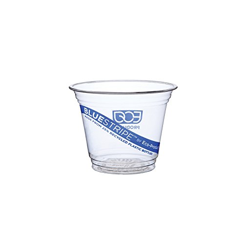 Eco-Products - BlueStripe 25% Recycled Content Cold Cup - 9oz. Cup - EP-CR9 (20 Packs of 50)