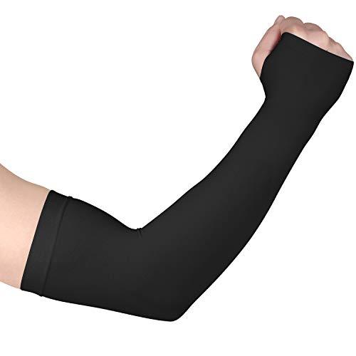 Fycert Tattoo Cover Up Arm Cover Sleeves for Men Women Cooling (1 Pair Black)