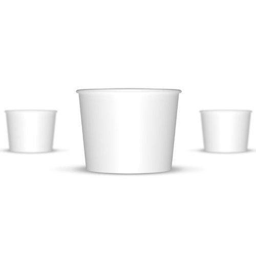 12 oz Paper Hot/Cold Ice Cream Cups - 100ct (White)