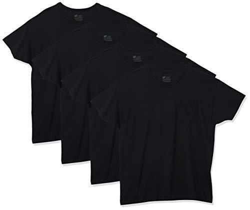 Hanes ComfortSoft 4-Pack t-shirts (Large 42-44', Black)