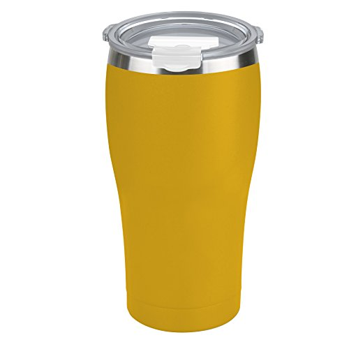 Tahoe Trails 20 oz Stainless Steel Tumbler with Lid, Vacuum Insulated Double Wall, Great for Cold or Hot Drinks, Thermal Cup Travel Mug , Cyber Yellow