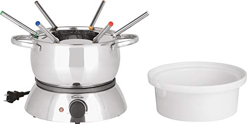 Trudeau Alto 3-in-1 Electric Fondue Set, 11-Piece, Silver
