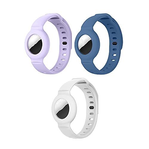 3/4pcs for Apple Airtag Silicone Band Bracelet Protective Case GPS Children Anti-Lost - Adjustable Tracking Locator for Children ,Lightweight Soft Wristband Strap-GPS Children Anti-Lost (C)