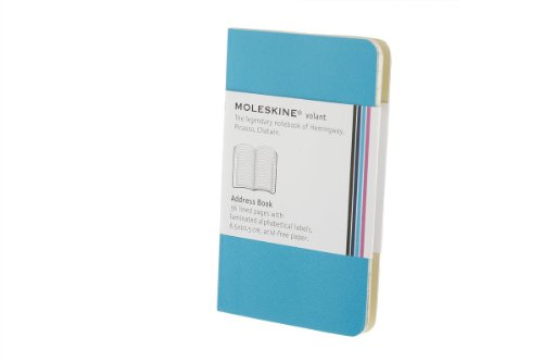 Moleskine Volant Address Book, Extra Small, Manganese Blue (2.5 x 4)