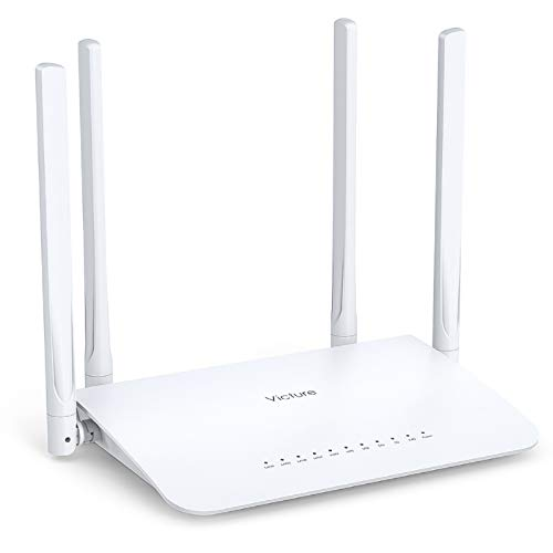 Victure AC1200 Wi-Fi Router for Home, Wireless Router, AC1200 Dual Band WiFi Router, 4 Gigabit LAN Ports, Coverage up to 3500 sqft, Supports Beamforming, Guest Wi-Fi, WISP