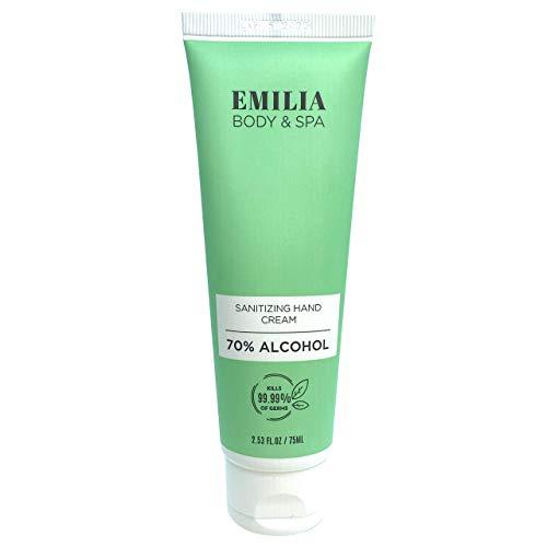 Emilia Sanitizing Hand Cream - Hand Lotion With Protective Sanitizer - Hand Sanitizer With Moisturizer - Antibacterial Moisturizing Hand Hygiene Sanitizer and Dry Hand Cream to Repair Cracked Hands