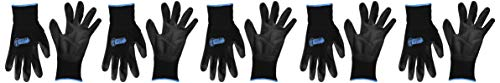 Gorilla Grip 25057-25 Slip Resistant All Purpose Work Gloves 5 Pack (Large), Black