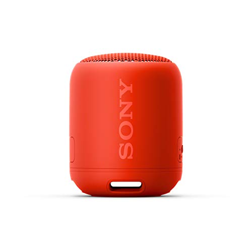 Sony SRS-XB12 Mini Bluetooth Speaker Loud Extra Bass Portable Wireless Speaker with Bluetooth - Loud Audio for Phone Calls- Small Waterproof and Dustproof Travel Music Speakers - Red
