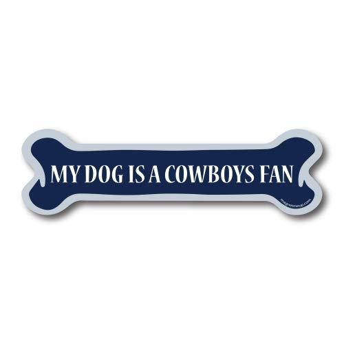 My Dog is a Cowboys Fan Dog Bone Car Magnet Decal- 2 x 7 Dog Bone Heavy Duty for Car Truck SUV Waterproof