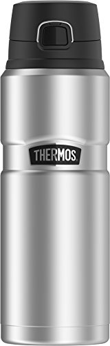 THERMOS Stainless King Vacuum-Insulated Drink Bottle, 24 Ounce, Matte Steel