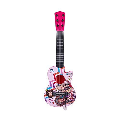 Sakar 'Barbie 21'' Kids Guitar Toy GT1-01371 | Inspired Design, Easy-to-Hold, Thin Frets and Low String, Traditional Acoustic Guitar Shape, Secret Stickers, Real Tuning Gears'
