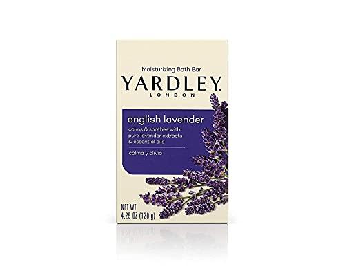 Yardley London Moisturizing Bar English Lavender with Essential Oils 4.25 oz (Pack of 3)