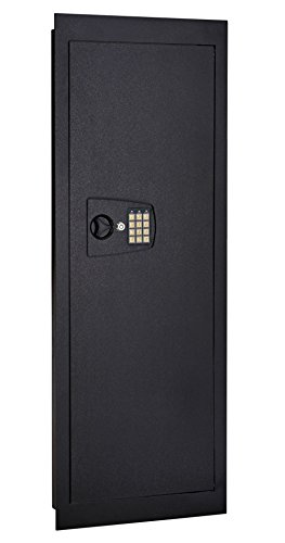 SnapSafe in Wall, Long Gun Shotgun Safe - Hidden Home Security Cabinet with Entry Knob and Digital Keypad - Safe Measures 44 Inches Tall x 16.25 Inches Wide x 4 Inches Deep - Install in Minutes