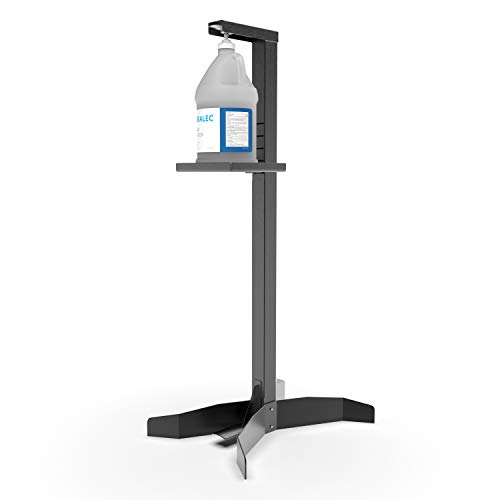 Duralec Foot Operated Hand Sanitizer Stand, Freestanding Fully Adjustable Hand Sanitizing Station For Commercial and Industrial Use (UNI-HSS)