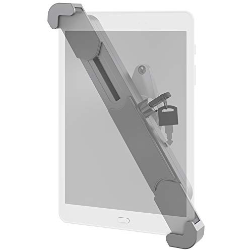 Barkan 8.7-12 inch Lockable Anti-Theft Tablet Wall Mount 3 lbs White & Silver Very Low Profile 360 Degree Rotation 2 Year Warranty