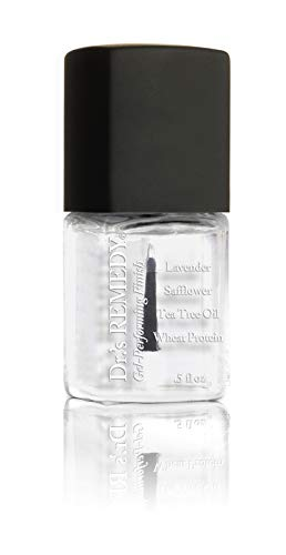 Dr.'s Remedy Organic CALMING Clear Nail Polish Long Lasting Antifungal Treatment for Nails and Toenail Fungus formulated by a Physician Restores Healthy Appearance of Discolored Damaged Nails