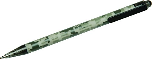 Skilcraft ACU-500 Slim Line Pen, Camouflage, Barrel, Medium Point, Black Ink, Box of 12 (7520-01-457-5400)