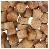 WIDGETCO 7/16' Mahogany Wood Plugs, Face Grain