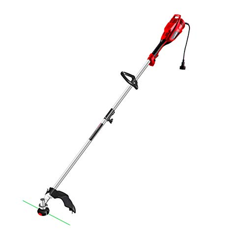 LawnMaster Red Edition GT1644 Electric String Trimmer 10 Amp 16-Inch Corded Grass Trimmer Lightweight with Shoulder Strap