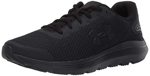 Under Armour Men's Surge 2 Running Shoe, Black (002)/Black, 9.5