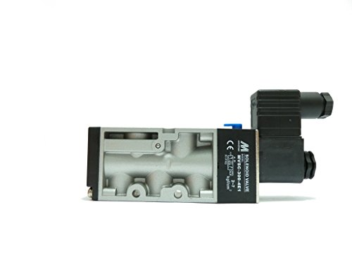 MVSC-300-4E1-AC110-NPT Solenoid valve, body ported type, 3/8 port size NPT, 4 way, single solenoid, AC110V, DIN connector