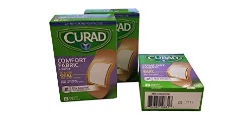 Curad Comfort Fabric, 2 Inches X 3 Inches (Pack of 4)