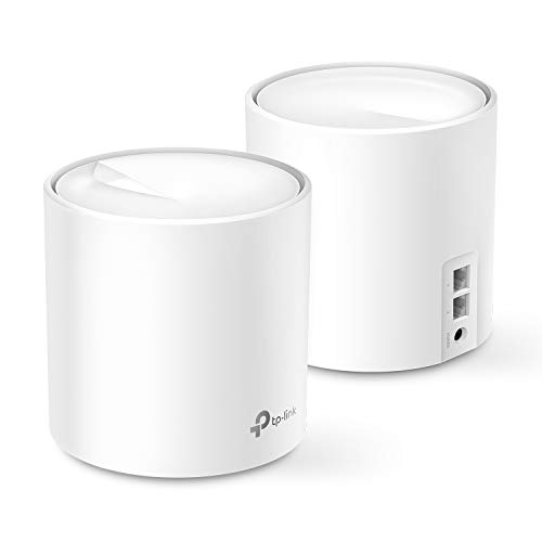 TP-Link WiFi 6 Mesh WiFi, AX3000 Whole Home Mesh WiFi System (Deco X60) - Covers up to 5000 Sq. Ft., Replaces WiFi Routers and Extenders, Parental Control, 2-pack