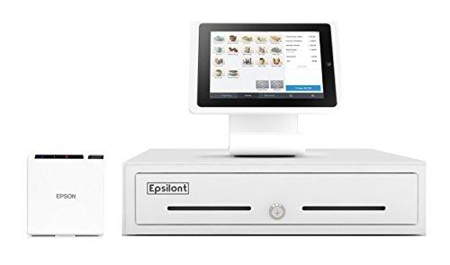 Square Register Hardware Bundle Compact -M10 2' Compact Receipt Printer, Stand for iPad 10.2' & 10.5',13' Epsilont Mini Cash Drawer