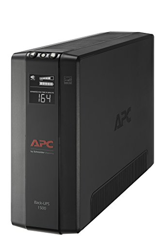 APC UPS, 1500VA UPS Battery Backup & Surge Protector, BX1500M Backup Battery, AVR, Dataline Protection and LCD Display, Back-UPS Pro Uninterruptible Power Supply