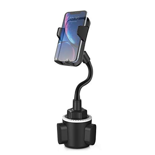 Car Cup Holder Phone Mount, Universal Adjustable Gooseneck Cup Holder Cradle Car Mount Compatible with Cell Phone iPhone 11 Pro/XR/XS Max/X/8/7 Plus/6s/Samsung S10/Note 9/S8 Plus/S7, etc
