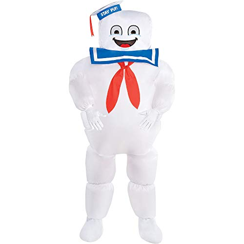 Party City Classic Inflatable Stay Puft Marshmallow Man Halloween Costume for Kids, Ghostbusters, Medium